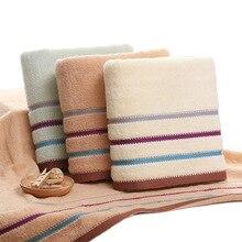 Полосатое полотенце, набор мягких косметических спа-полотенец для лица, хлопок, банное большое полотенце для дома, ванной комнаты для взрослых и детей, 3 цвета