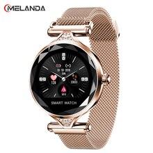 Новые модные женские умные часы, носимые устройства, Bluetooth шагомер, монитор сердечного ритма для Android/IOS, смарт браслет