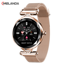 Nova moda feminina smartwatch wearable dispositivo bluetooth pedômetro monitor de freqüência cardíaca para android/ios pulseira inteligente