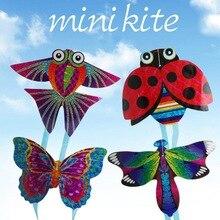 1 шт., веселый и спортивный воздушный змей, летающие игрушки для детей, Интерактивная игрушка, мультяшный самолет, Бабочка, насекомое, мини воздушные змеи, случайный выбор