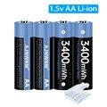 1,5 в AA литий-ионная перезаряжаемая батарея 1,5 МВт/ч 1,5 в aa батарея для термометра AA в перезаряжаемая батарея AA