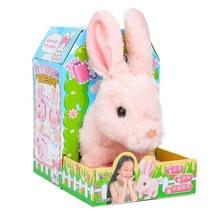 Robot Rabbit Toy Electronic Rabbit Plush Pet Walking Jumping Interactive Animal Toys For Children Birthday Gifts