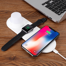 Yeelight Wireless Charger for apple watch 1 2 3 4 LED Night Light Magnetic Fast Charging Pad for iPhones Samsung Huawei Xiaomi