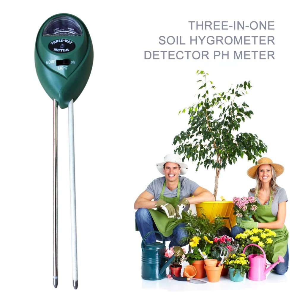 Outdoor Hygrometer Soil PH Meter Moisture Light Meter 3 In 1 PH Detector Analyzer Pointer Soil For Garden Plant Flower Soil