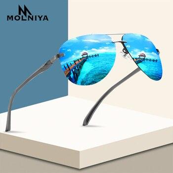 New 2020 Alloy Frame Classic Driver Men Sunglasses Polarized Coating Mirror Frame Eyewear aviation Sun Glasses For Women stylish irregular alloy frame silver sunglasses for women
