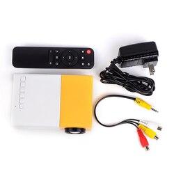 YG300 FÜHRTE Mini Projektor 320x240 Pixel Unterstützt 1080P YG300 HDMI USB Haushalt Audio Tragbare Projektor Home Media video-player