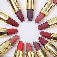 TEAYASON 12 kolorowa szminka matowy długi trwały kosmetyk pomadka do ust do makijażu wodoodporne szminki mata naturalne usta makijaż kobiety