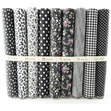 9 pièces coton tissu bricolage couture vêtements pour enfants tissu faire poupée vêtements à la main matériel décoration maison 25x25cm