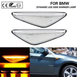 2x Dynamic Flowing LED Side Marker signal Light lamp For BMW E70 X5 E71 X5 E72 X6 F25 X3