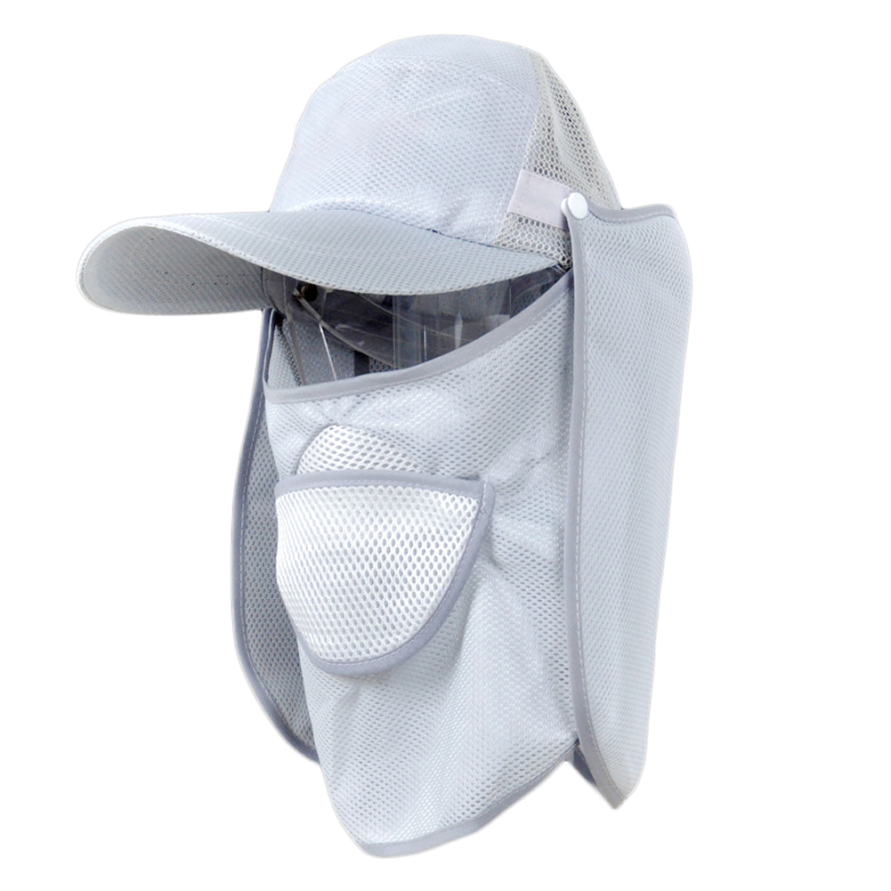 UV Protection fishing cap with removable neck cape breathable face cover sun hat