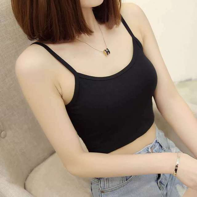Black White Casual Women Sexy Crop Top Off Shoulder Sleeveless Tank Top Summer Short Solid Fitness Women Tops Camis