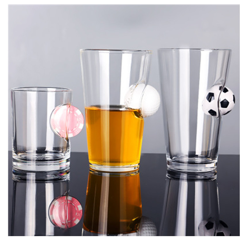 Creative Drink Glass Water Bottle Wine Glasses High Borosilicate Transparent Bullet Piercing Decorative