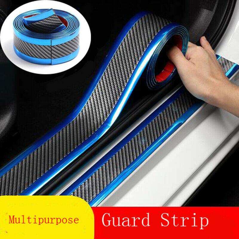 1 метр Карбон волокно Стикеры s порог машины защита Стикеры для двери туловища бампер автомобили внешние аксессуары