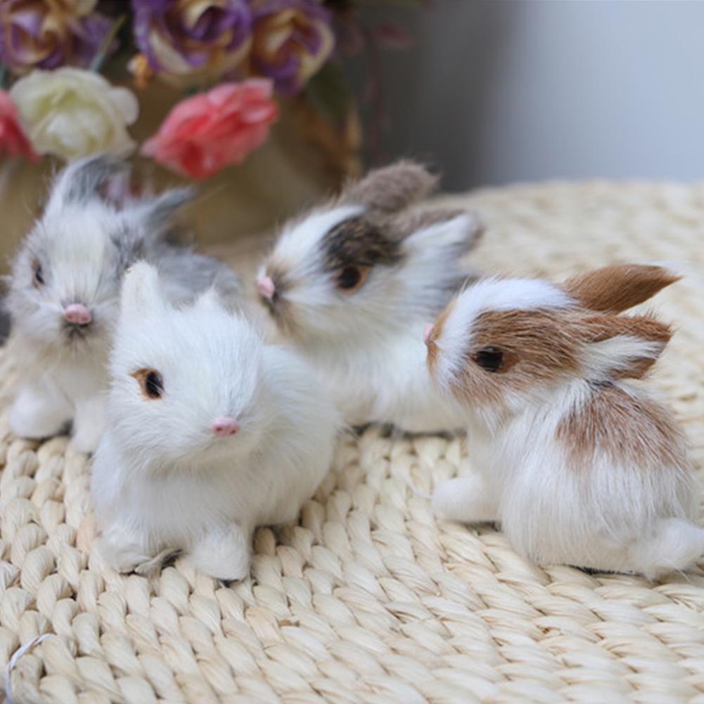 Lovely Simulation Animal Doll Rabbit Plush Sleeping Stuffed Toy Kids Gift Decor baby accompany sleep toy gifts For kids