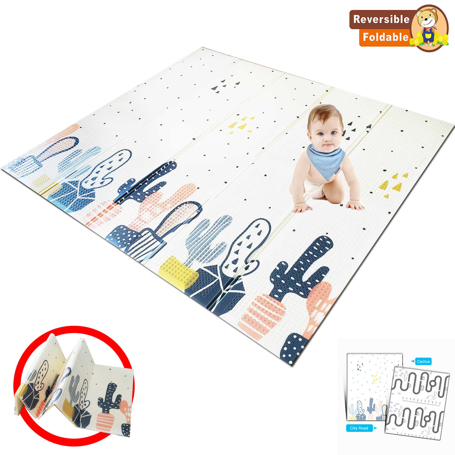 Xpe Baby Play Mat Toys Folding Puzzle Non Slip Playmat For Infants
