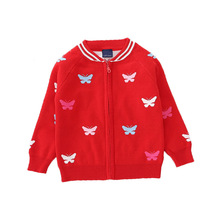 Fashion Girls Cardigan Sweater Baby Girl Sweaters Winter 2019 Cute Strawberry Knitted Clothes