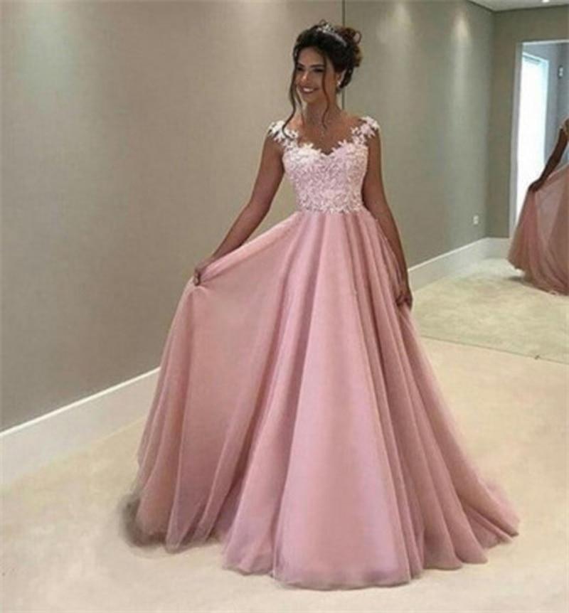 Women Elegant Flower Maxi Lace Dress Vestido De Festa Backless Dress Women Sundress Pageant Princess Party Formal Long Dress