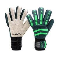 Футбольные вратарские перчатки из латекса, защита для пальцев, футбольные вратарские перчатки для взрослых и детей, профессиональные дышащ...