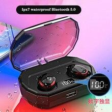 Xiaomi power Bank беспроводные наушники Bluetooth 5,0 беспроводные наушники зарядный отсек IPX7 водонепроницаемые наушники
