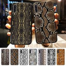 Leather Snake horror animal pattern Phone Case For Samsung galaxy A S note 10 7 8 9 20 30 31 40 50 51 70 71 21 s ultra plus