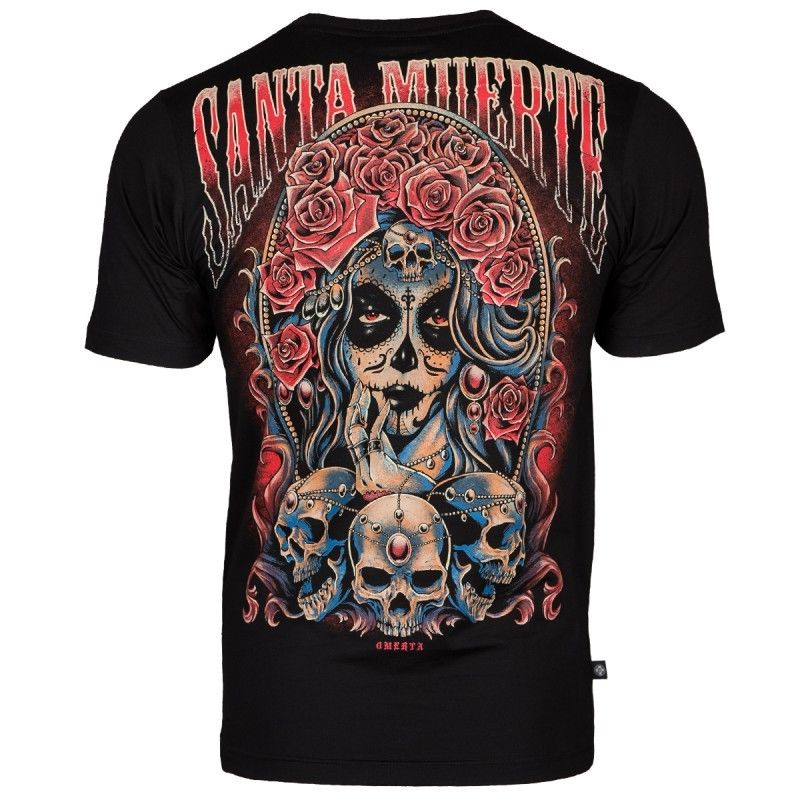 Santa Muerte Omerta Tshirt Extreme Hobby Mens Black 100% Cotton T Shirt Top Tee Mens Tee Shirts Summer Men'S Fashion Tee