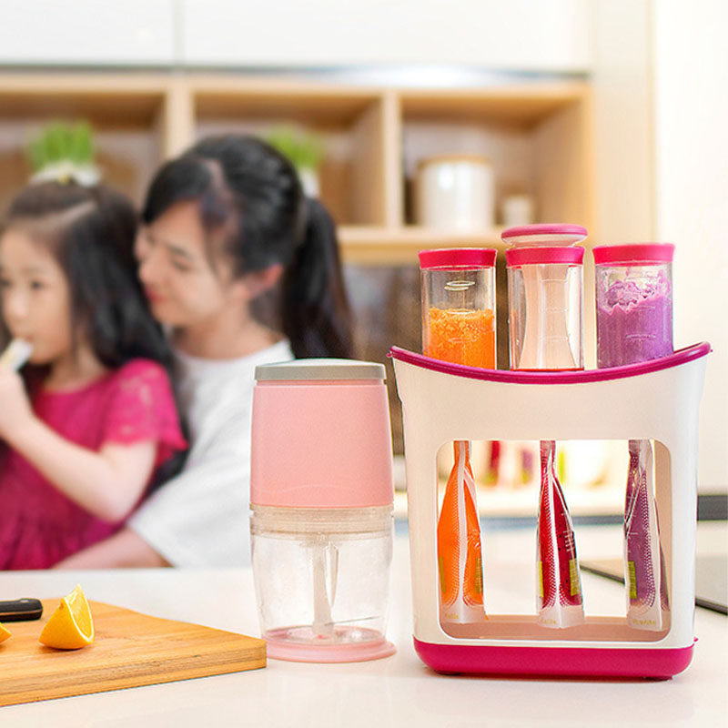 Food Squeeze Station Infant Feeding Containers Storage Baby Food Maker Baby Fruit Puree Packing Machine Toddler Solid Juice Make