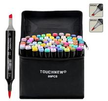 TOUCHNEW EF818 Super Brush Alcohol Based Art Markers Dual Head Manga Drawing Pens Alternative Copic Sketch