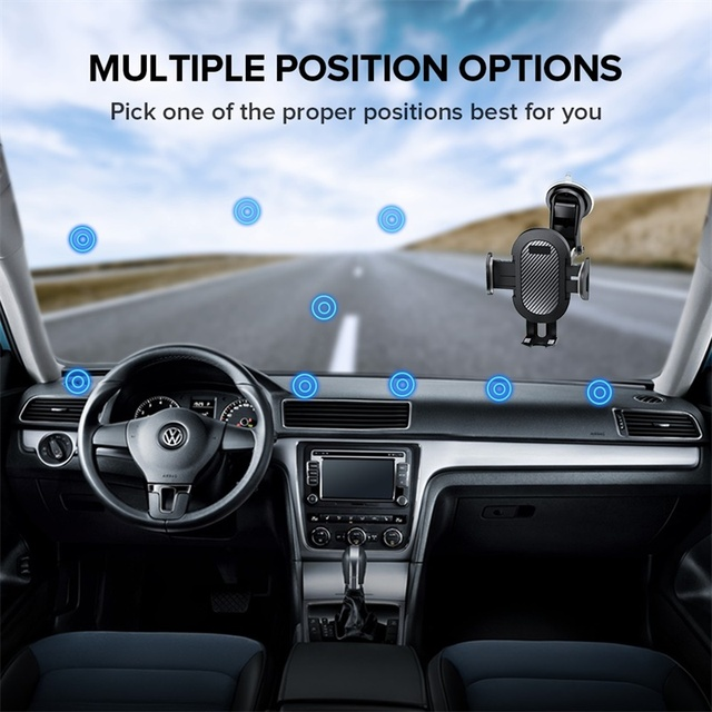 INIU Sucker Car Phone Holder Mobile Phone Holder Stand in Car No Magnetic GPS Mount Support For iPhone 11 Pro Xiaomi Samsung 5
