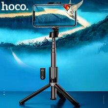 Hoco سماعة لاسلكية تعمل بالبلوتوث Selfie عصا يده هاتف ذكي ترايبود الكاميرا مع البعيد اللاسلكية آيفون X سامسونج هواوي أندرويد