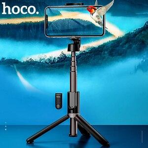 Image 1 - Hoco sans fil Bluetooth Selfie bâton poche téléphone intelligent caméra trépied avec télécommande sans fil pour iPhone X Samsung Huawei Android