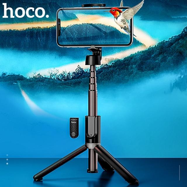 Hoco sans fil Bluetooth Selfie bâton poche téléphone intelligent caméra trépied avec télécommande sans fil pour iPhone X Samsung Huawei Android