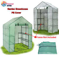 Tewango Garden Greenhouse PE Cover Plants Keep Warm Sunroom For Flowers Roll-up Windows Without Frame 69*49*160cm/143*73*195cm