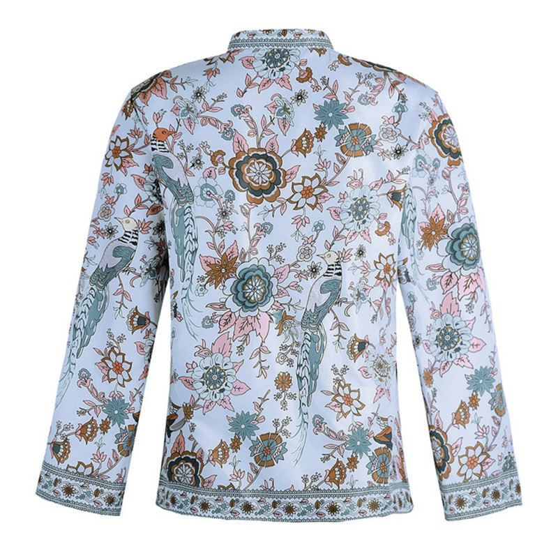 GVN Rocks Bohemian Vintage Floral Tops Blouse