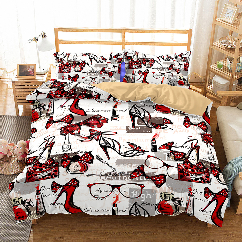 BEST.WENSD Quality Bedding Set Luxury Wedding Red Queen Thick Duvet Cover Set With Pillow Covers Comforter Set Red Decoration