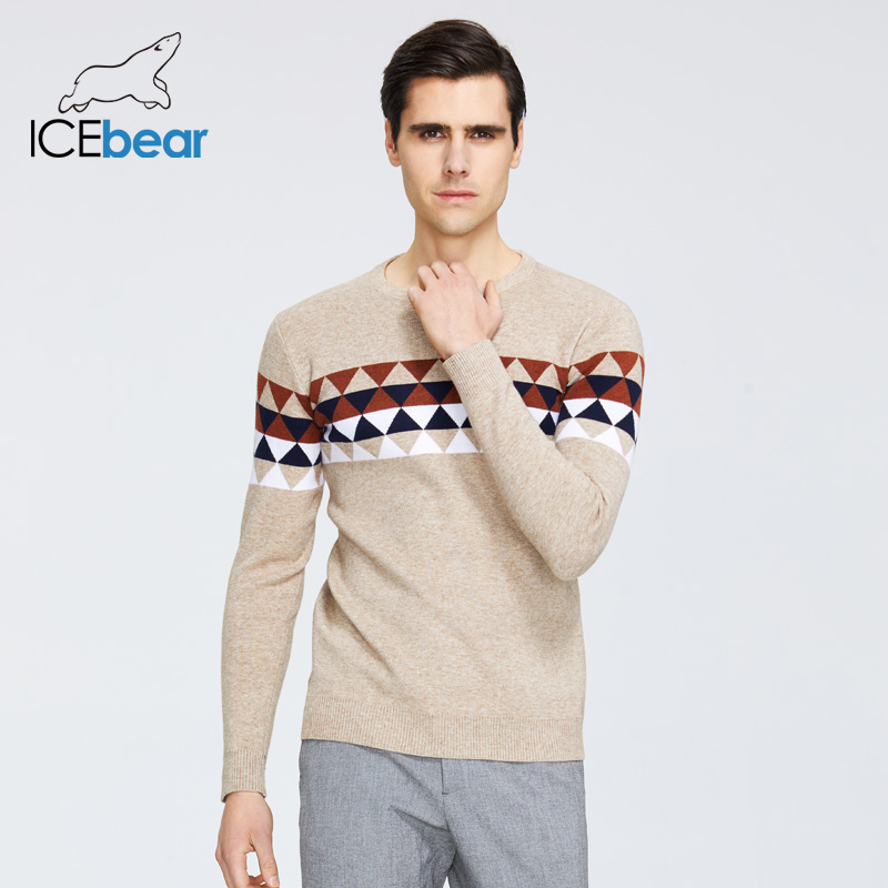 ICEbear 2020 Autumn New Male Sweater Casual Men's Pullover Brand Men's Clothing  1721
