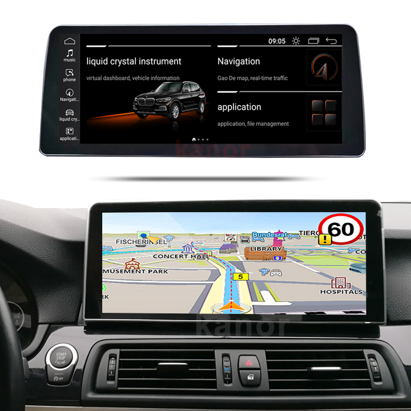 KANOR LG 1920*720 8 Core 4G+64G Android 10 car multimedia player gps navigation for B-MW 5 Series F10 F11 CIC NBT image