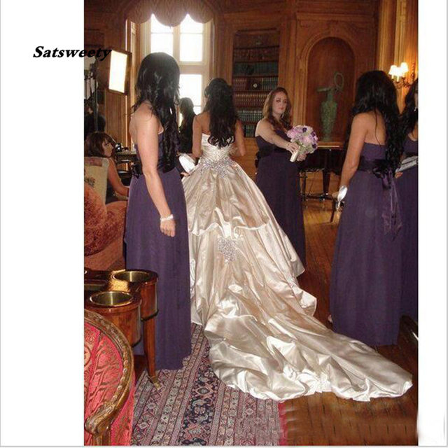 Hot Price C6a9a Ivory Bling Pnina Tornai Wedding Dresses Sweetheart Ball Gowns Sparkly Crystal Backless Long Train Bridal Gowns Cheap Cicig Co