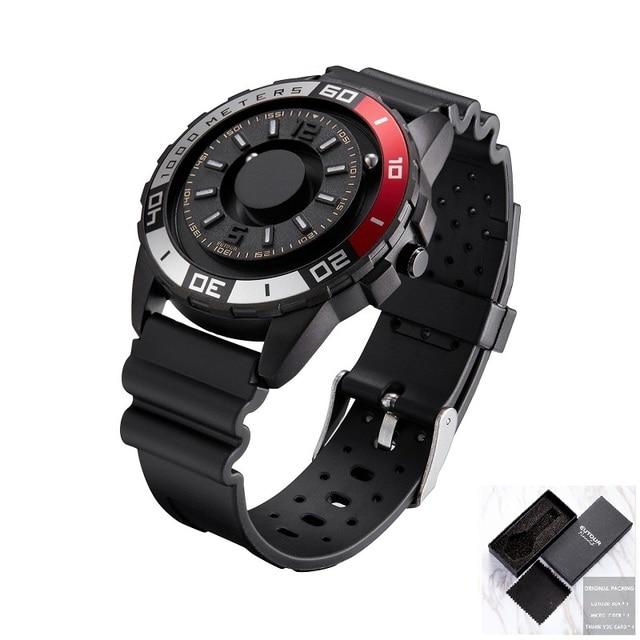 EUTOUR Watch Men Innovative Magnetic Quartz Watch Silicone Canvas Steel Strap Mens Watch Male Clock Dropshipping erkek kol saati | Fotoflaco.net