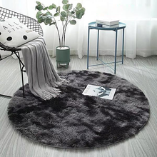 Fluffy Round Rug Tie-Dye Carpets for Living Room Soft Plush Shag Area Rug Home Decor Floor Mats Anti-Slip Bedroom Kids Room Mat