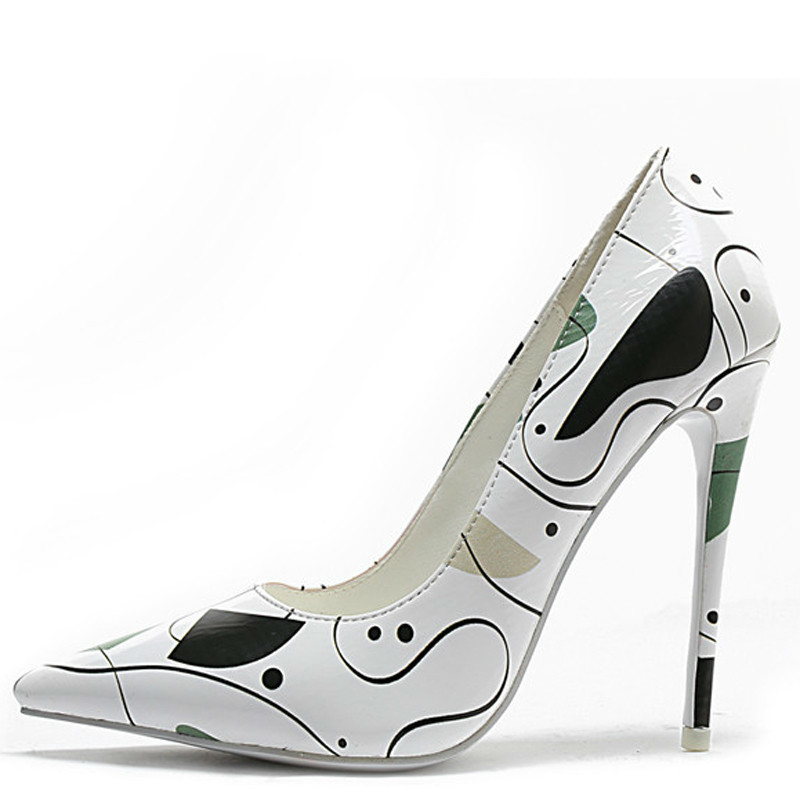 YECHNE Women's High Heels Shoes Sexy Woman Bridal Heel Shoes Plus Size Pointed Toe White Wedding Pumps Party Stiletto 12 CM