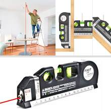 Multipurpose Laser Level Vertical Measure Tape Adjusted Standard Ruler Horizontal Cross Lines Optical Instrument 4 In 1