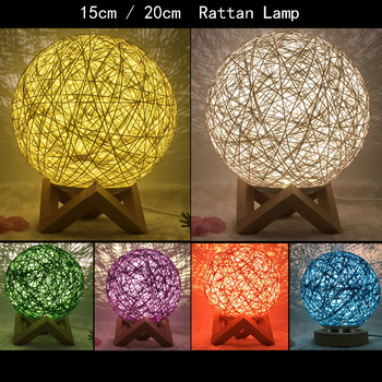 New USB festival originality Twine ball Small table lamp New and strange LED gift bedroom Study decorate Rattan lamp Night light bedroom study 3d light night light festival usb small table lamp originality acrylic atmosphere lamp gift decorate bedside lamp