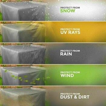 23 Dimensioni Della Copertura Impermeabile Patio Esterno Della Polvere Mobili Da Giardino Copre Divano Sedia Copertura Di Tabella Per La Polvere Della Copertura A Prova Di Pioggia Neve