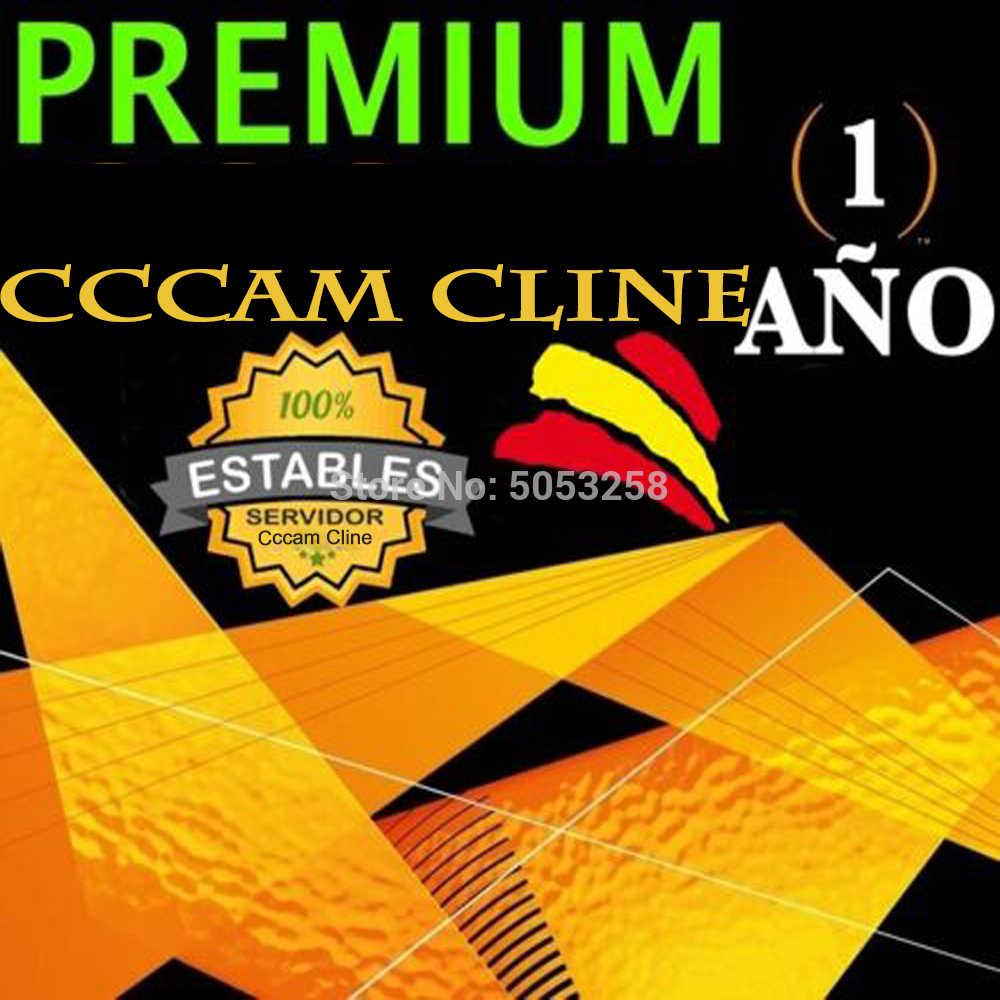Europe Cline Cccam cline serveur Europe cccam oarnaque cline pour DVB-S2 2 ans v8 nova freesat v8 super récepteur de télévision par Satellite
