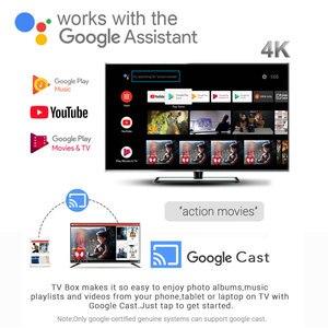 Image 2 - Android 10.0 Amlogic S905X2 ses kontrolü akıllı TV kutusu dört çekirdekli 4GB/64GB Set üstü kutusu 2.4G & 5G Wifi 4K medya oynatıcı Mecool KM3