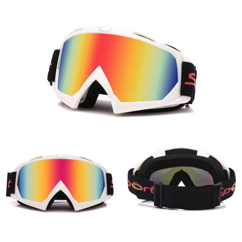 Men Women Colorful Lens Racing Eyewear Motocross Off Road Bike SkiMotorcycle ATV Googles Snowboard Glasses