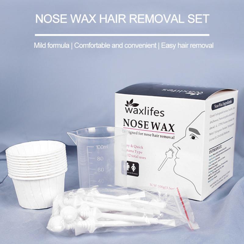 100g Nose Ear Hair Removal Wax Kit Painless Mens Nasal Waxing Easy