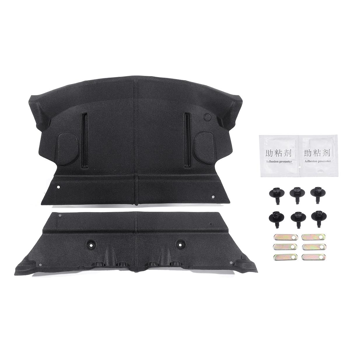 Tapis de coton insonorisé de coffre arrière de voiture amélioré pour Tesla modèle 3 insonorisant tapis de protection accessoires de voiture