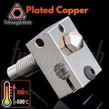 Trianglelab V6 メッキ銅キットノズル + 熱ブロック + TC4 チタン合金熱ブレークpetg炭素繊維ペイpeek absナイロン