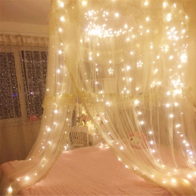 3M*3M Waterproof LED Fairy Lights Indoor Outdoor Decoration For Holiday Party Stage Living Room Bedroom Window Curtain Decor